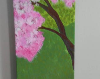 Blossoms: Original Acrylic 5.5inx12in