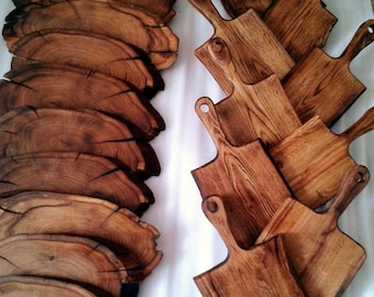 Spily and oak Boards for feeding Food Photo, Food, wood products, natural covering