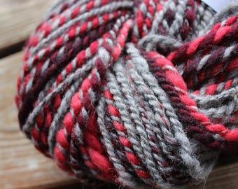 98 yards of 2 ply Homespun wool yarn