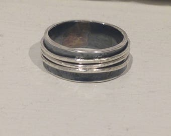 Silver spinner ring/meditation ring