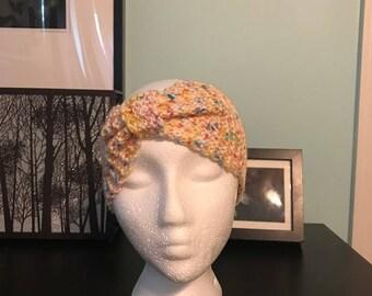 Rainbow Confetti Cinched Headband
