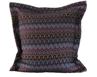 Zanzebar Trellis pink blue and grey Jacquard cushion-Free Shipping Worldwide