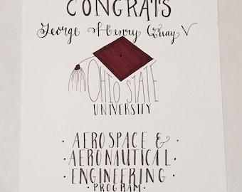 Graduation Lettering Piece