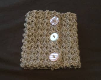 Moss Stitch Crochet Coffee Cup Cozy