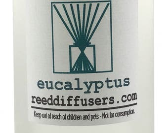 8 oz Eucalyptus Fragrance Reed Diffuser Oil Refill - Made in the USA
