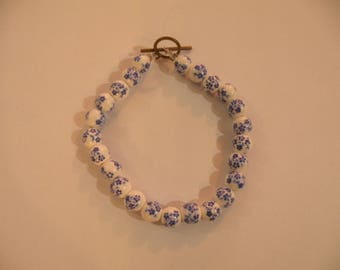 forget-me-not china bracelet