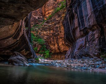 Zion National Park - Landscape Photography - Water - Nature Photograph - The Narrows -