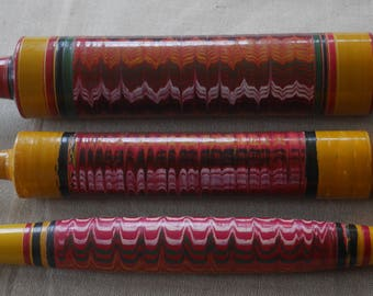 Chapati Rolling Pin with Beautiful Lacquer Finish.