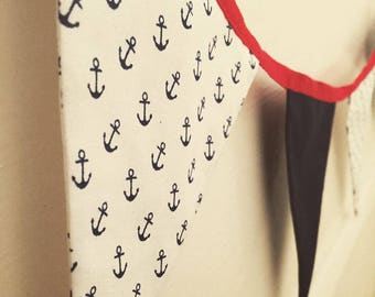 Handmade Fabric Bunting - Nautical Themed 2.6m 10 Flags