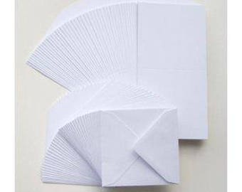 10 x White Square Card Blanks & Envelopes 6 x 6 - Card Making Craft Stationery
