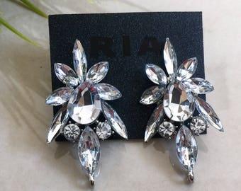 Diamond  Crystal Rhinestone Earrings, Bridal Earrings, Bridesmaid, Prom Earrings,Gift for her