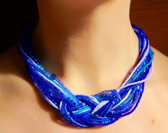 blue summer necklace