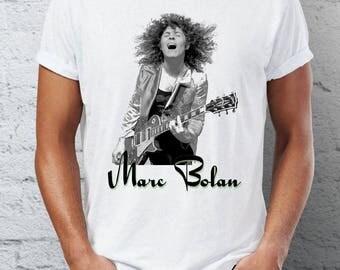 marc bolan - t.rex -  1970s - adult - mens - womans  - T-SHIRT