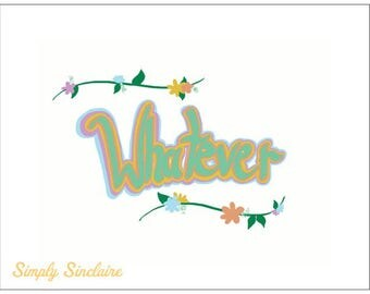 Whatever Floral Postcard