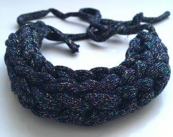 Black and rainbow sparkle necklace