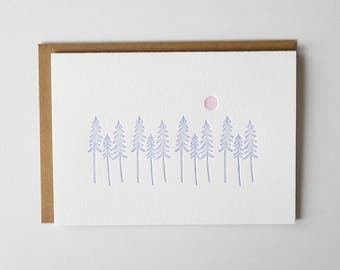 Woods & Sun Letterpress Greeting Card