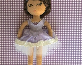 Lilac, a Dove Cottage Doll Design, handmade in Hawaii, original unique doll