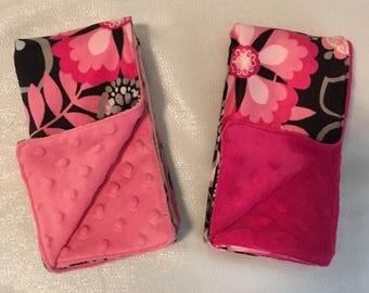 Minky LOVEY blanket for baby girl