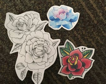 Bundle of Flower Stickers