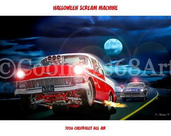 1956 Chevrolet Bel Air Original Art print