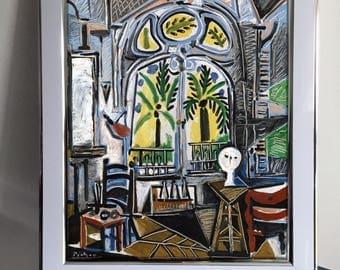 Pablo Picasso, The Studio. Framed Print