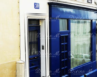 "Fine Art Photography, Door, Paris, Blue, Architecture, Print ""Blue Parisian Door"""