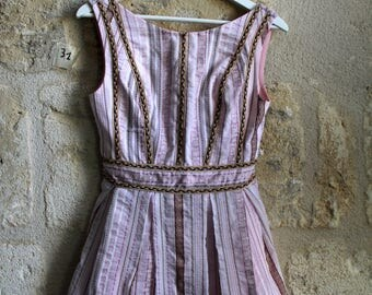 Short dress with stripes pink