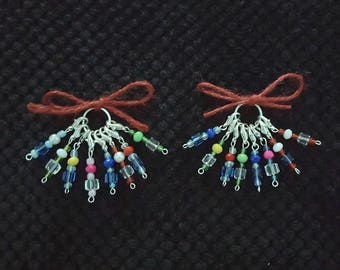 Colorful Beaded Crochet Stitch Markers