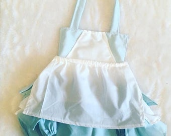 Alice in wonderland, romper,sunsuit, boutique, nb, 3,6,9,12,24 months, 2,3t