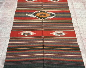 Home decor Kilim Rug, Multi Colored Oriental Floor  Kilim  Rug, Large Hallway muted colored Rug 8.62 ftX 4.36ft / 263cmX 133 cm