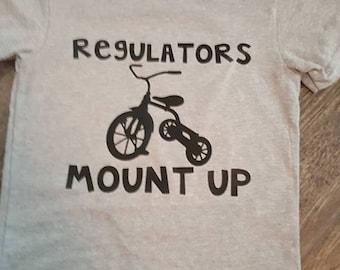 FREE SHIPPING**Regulators mount up, Kids shirt, Toddler Boy, Tricycle