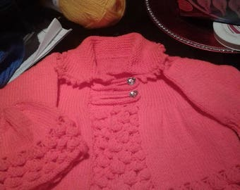 Hand Knitted Jacket & Hat