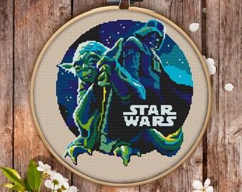 Star Wars Cross Stitch Pattern for Instant Download - 061| Easy Cross Stitch| Counted Cross Stitch| Embroidery Design| Needlecraft Pattern