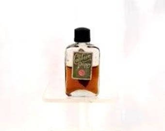 Antique 1920s Californian Poppy by Paul English Mini Miniature Perfume Bottle with Art Nouveau Label