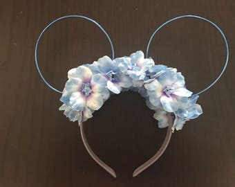 Floral Wire Mickey Ears