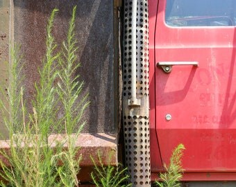 Abandoned Truck; fine art photography; wall art; truck; truck photograph; industrial photography; photography print