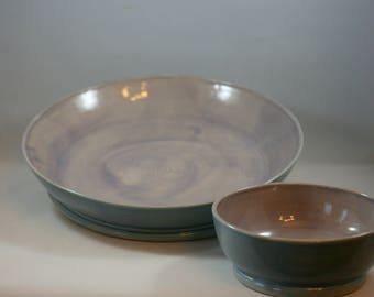2 Piece Chips and Salsa Platter or Vegetable and Dip Set