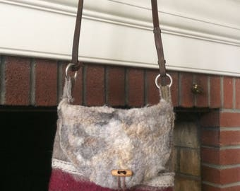 Wet Felted Handbag