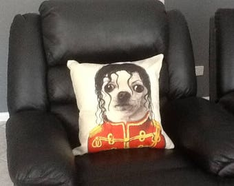 Michael Jackson Dog Face Cushion, Funny Pillow, dog Cushion, dog Pillow