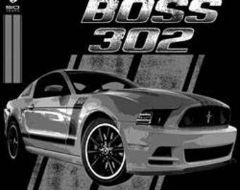 classic ford mustang t-shirts:boss 302 50 years  MUSTANG FORD cars  pick up truck t-shirt tee shirts Licensed T-SHIRTS cart rucks tee shirts