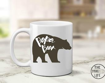 Papa Bear mug, Dad mug, mug for Dad, Father's day gift, quote mug, gift for him, coffee lover gift, Bear