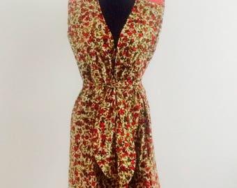 Wrap poppies dress
