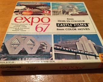 EXPO 67 8mm movie reel - vintage Montréal Canada film souvenir retro