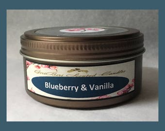Blueberry & Vanilla Double Wick Soy Candle Tin