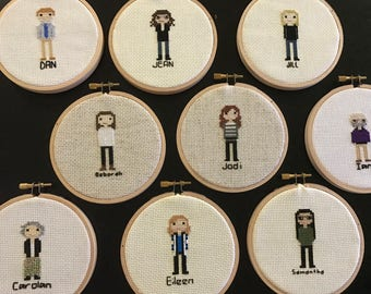 Personalized Cross Stitched People