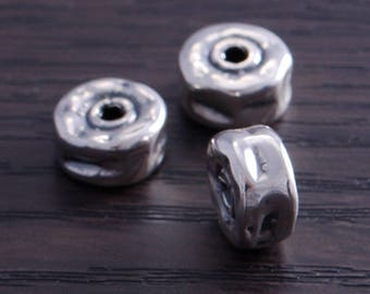 Sterling Silver Artistic Bead 9mm (pack of 3 beads) DB4E