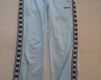 Vintage Wilson stripe logo pants