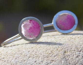 petal pink disc earrings