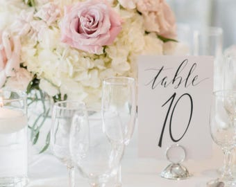 Elegant Table Numbers, Printable, Hand Written Calligraphy Table Numbers, Wedding, Stationery, numbers 11-15