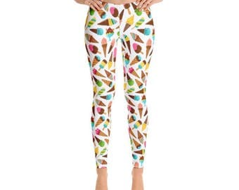 Ice Cream Leggings - Summer Leggings - Fancee Pants Co